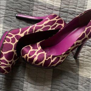 Giraffe Print Heels